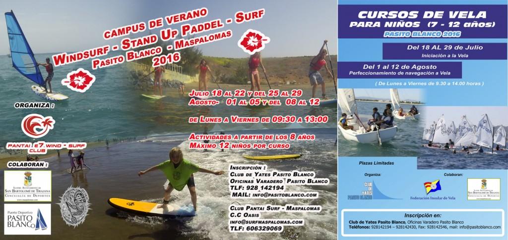 CARTEL CURSOS VERANO WINDSURF, STAND UP PADDEL Y SURF 2016