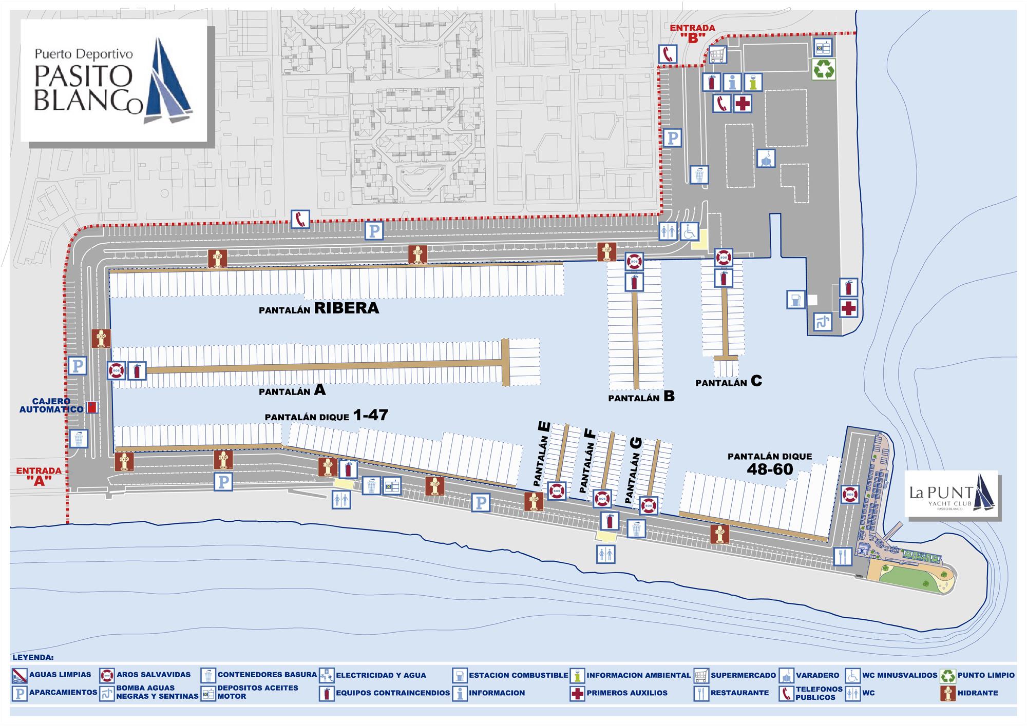 Plano de Amarres del Puerto Deportivo Pasito Blanco