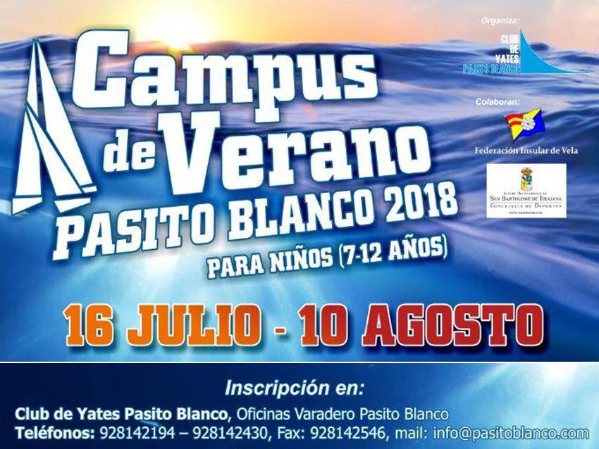Abierto el plazo de inscripción al Campus de Verano Pasito Blanco 2018